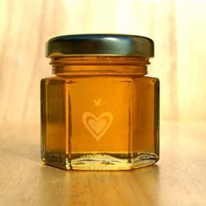2 ounce hex jar - honey favor