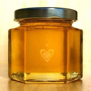 6 ounce hex jar - honey favor