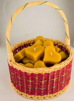 Beeswax Mini Heart Floating Candles