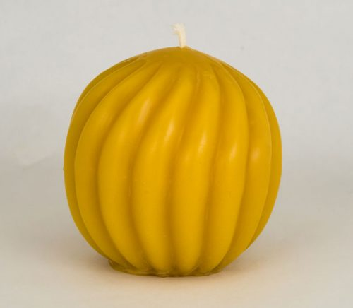Beeswax Twisted Ball Candle