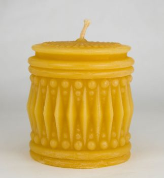 Beeswax Crystal Cylinder Candle