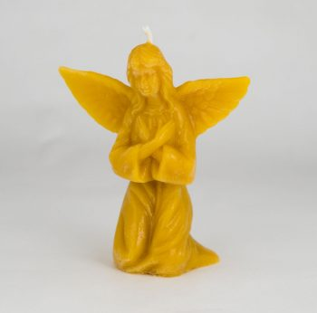 Beeswax Praying Angel Candle
