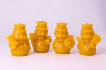 Beeswax Snowmen Candles
