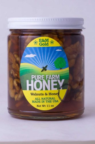 NJ Honey and Walnuts in a Jar