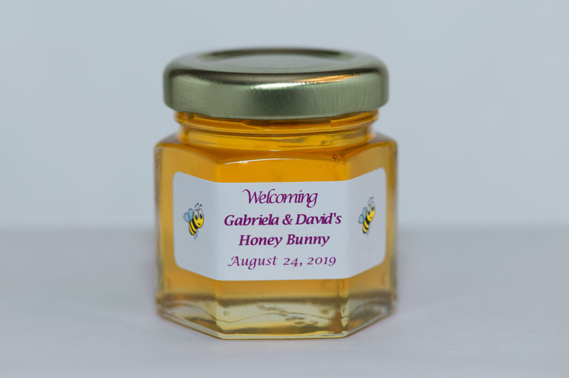 2oz. Honey Favor Honey Buneey personalized label