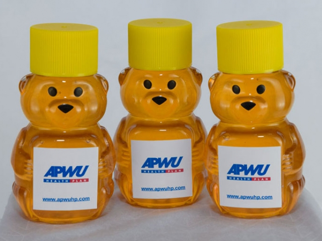 mini honey bear corporate honey favor business gift idea