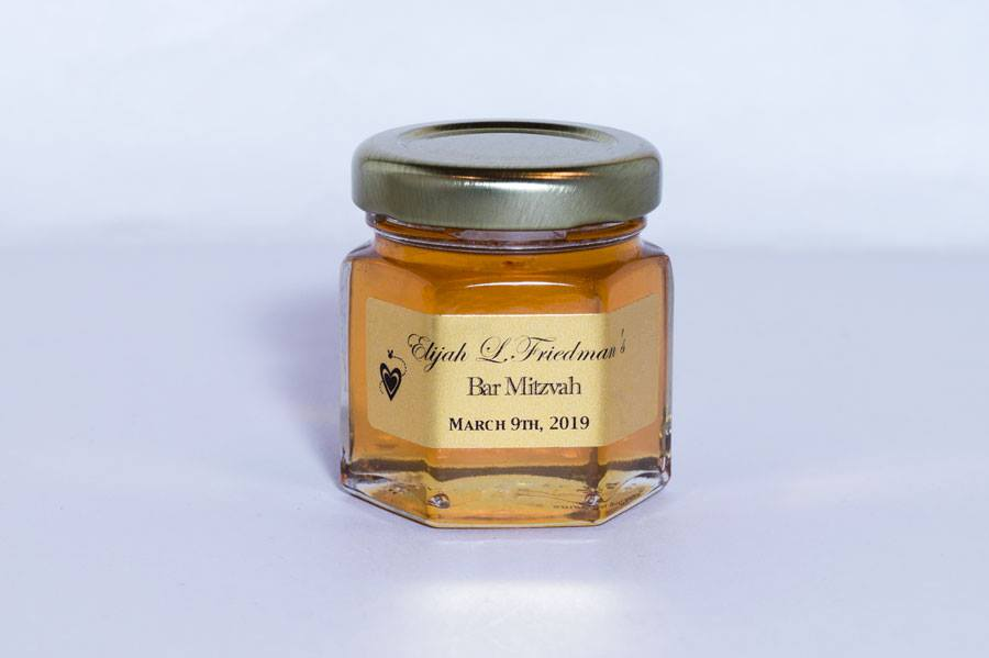 2oz. Honey Favor Bar Mitzvah personalized label