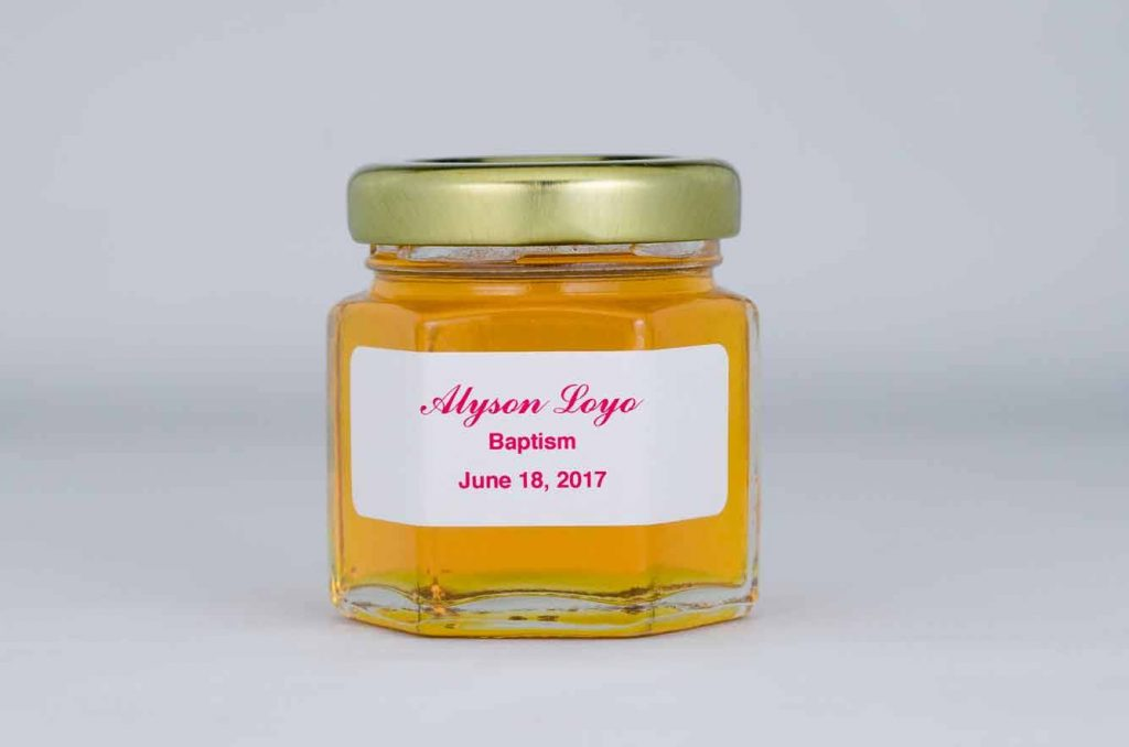Baptism Honey Favor