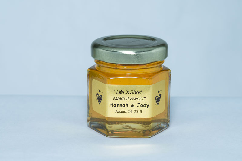 2oz. Honey Favor Life is Short Make it Sweet personalized label