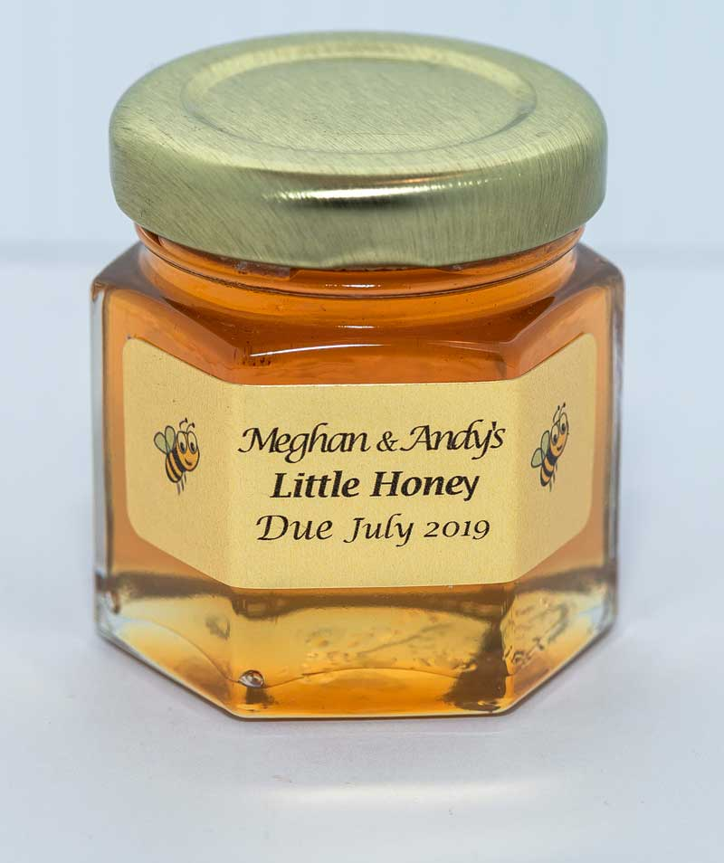 2oz. Honey Favor Little Honey personalized label