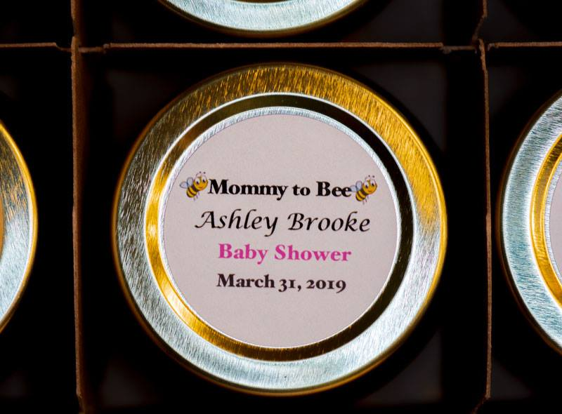 4oz. Honey Favor Baby Shower personalized round label