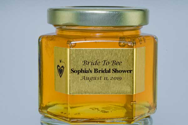 6oz. Honey Favor Bride to Bee personalized label
