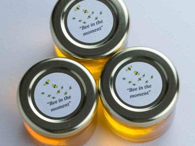 round corporate honey favor business gift idea