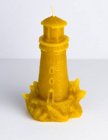 Beeswax Mini Lighthouse candle