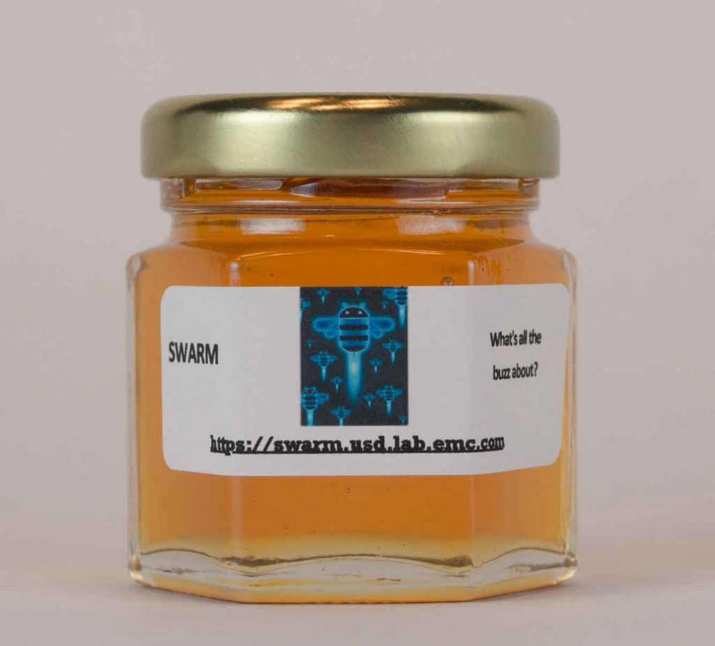 Corporate Honey Favor with personalized label