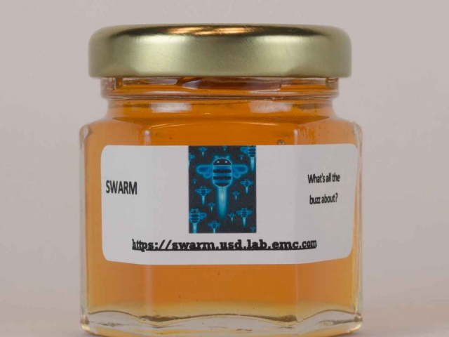 2oz. small corporate honey favor business gift idea