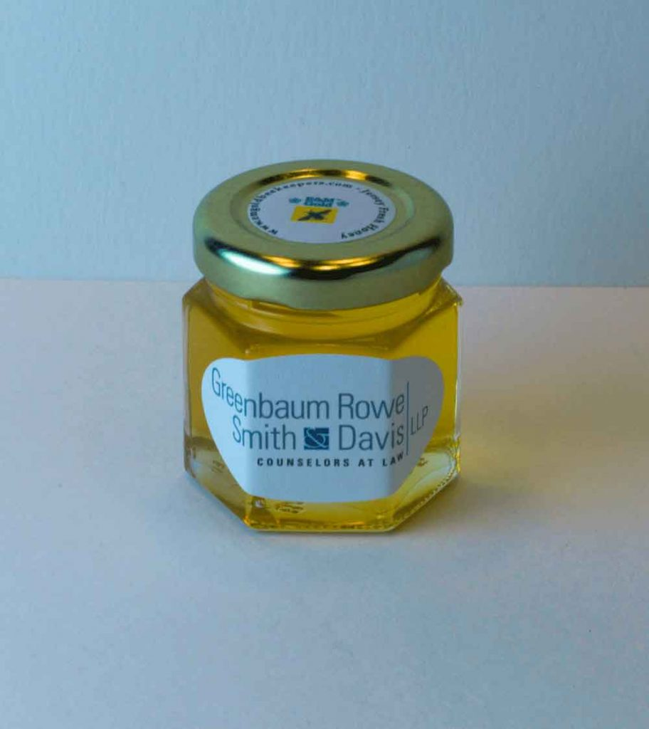 2oz. Honey Favor with round label