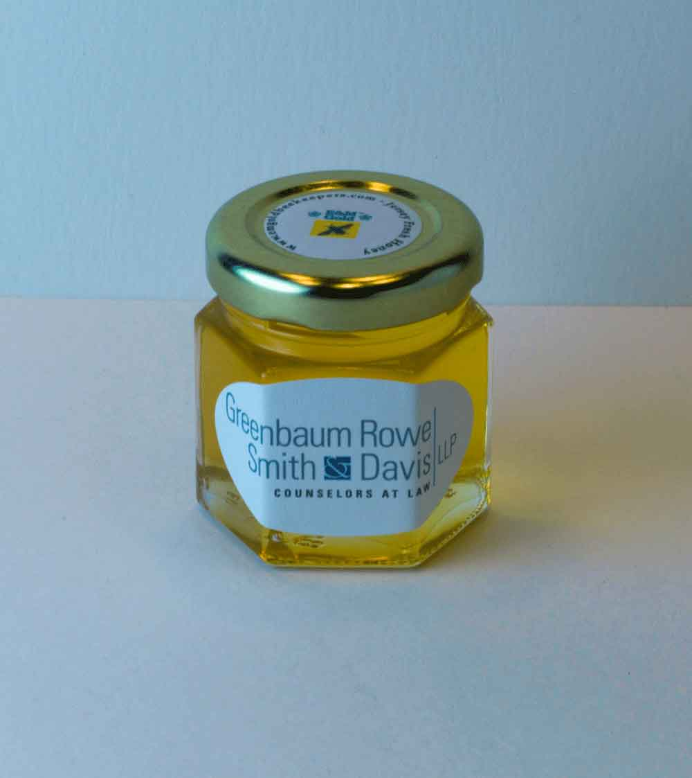 2oz. corporate honey favor business gift idea