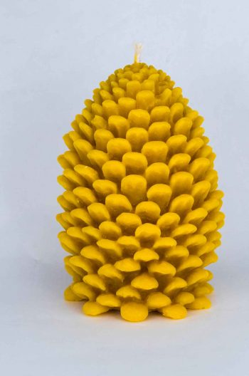 Beeswax Large Pine Cone Candle