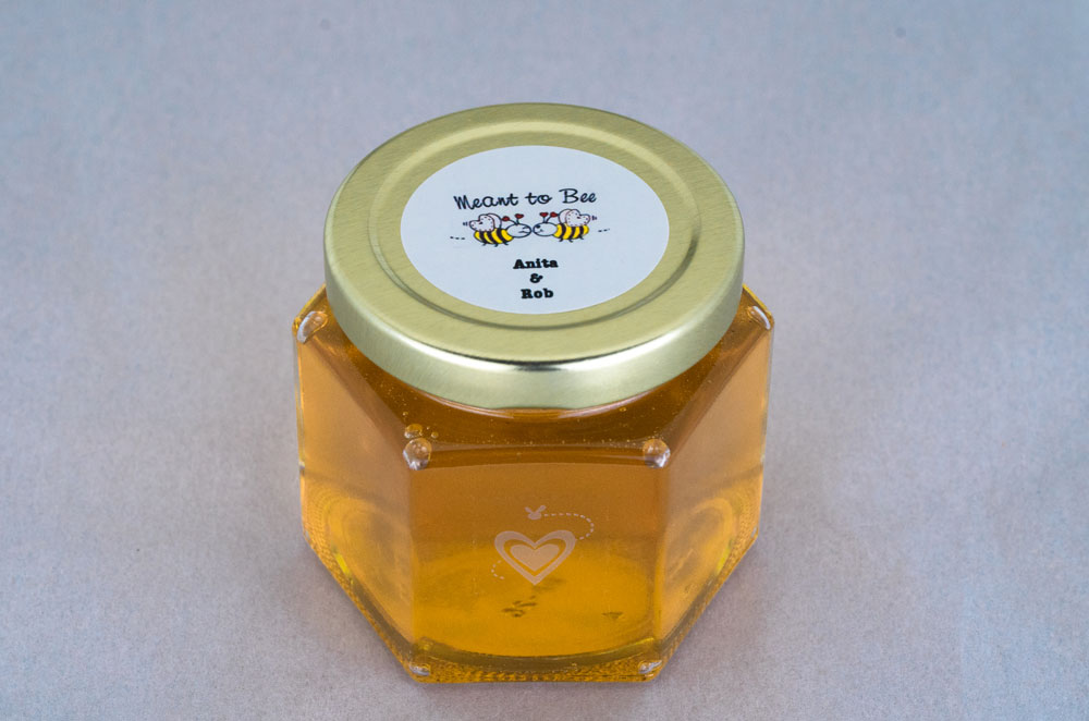 6oz. Honey Favor with custom  round label