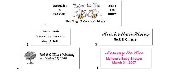 Examples Of Wedding Favor Tags : Personalized Wedding Favor Labels, Tags, Ribbons-EMWeddingFavors