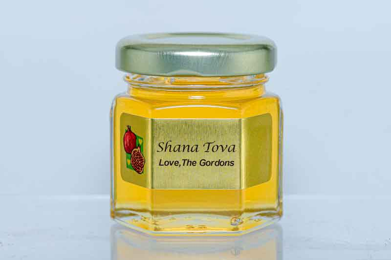 Rosh Hashana 2oz. Honey Favor personalized label