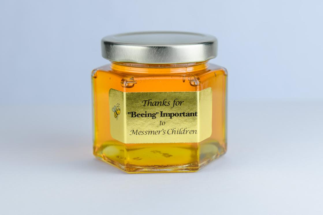 6oz. corporate honey favor business gift idea