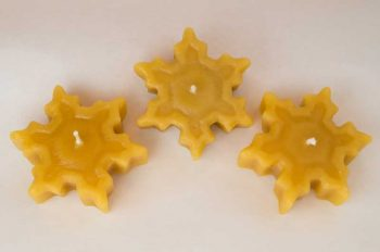 Beeswax Snowflake Floating Candle