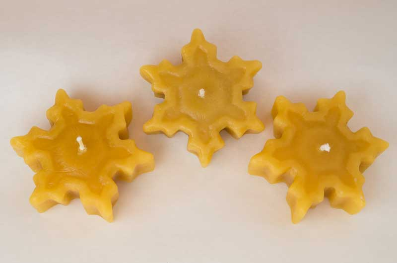 New Beeswax Snowflake Floating Candles