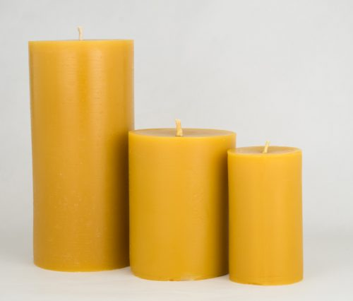 Beeswax Plain Pillar Candles