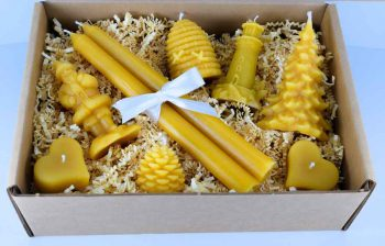 Beeswax Candle Collection Large Gift Box