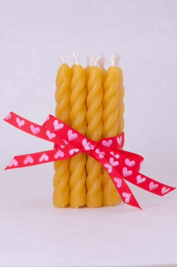 Beeswax Mini Spiral Candle