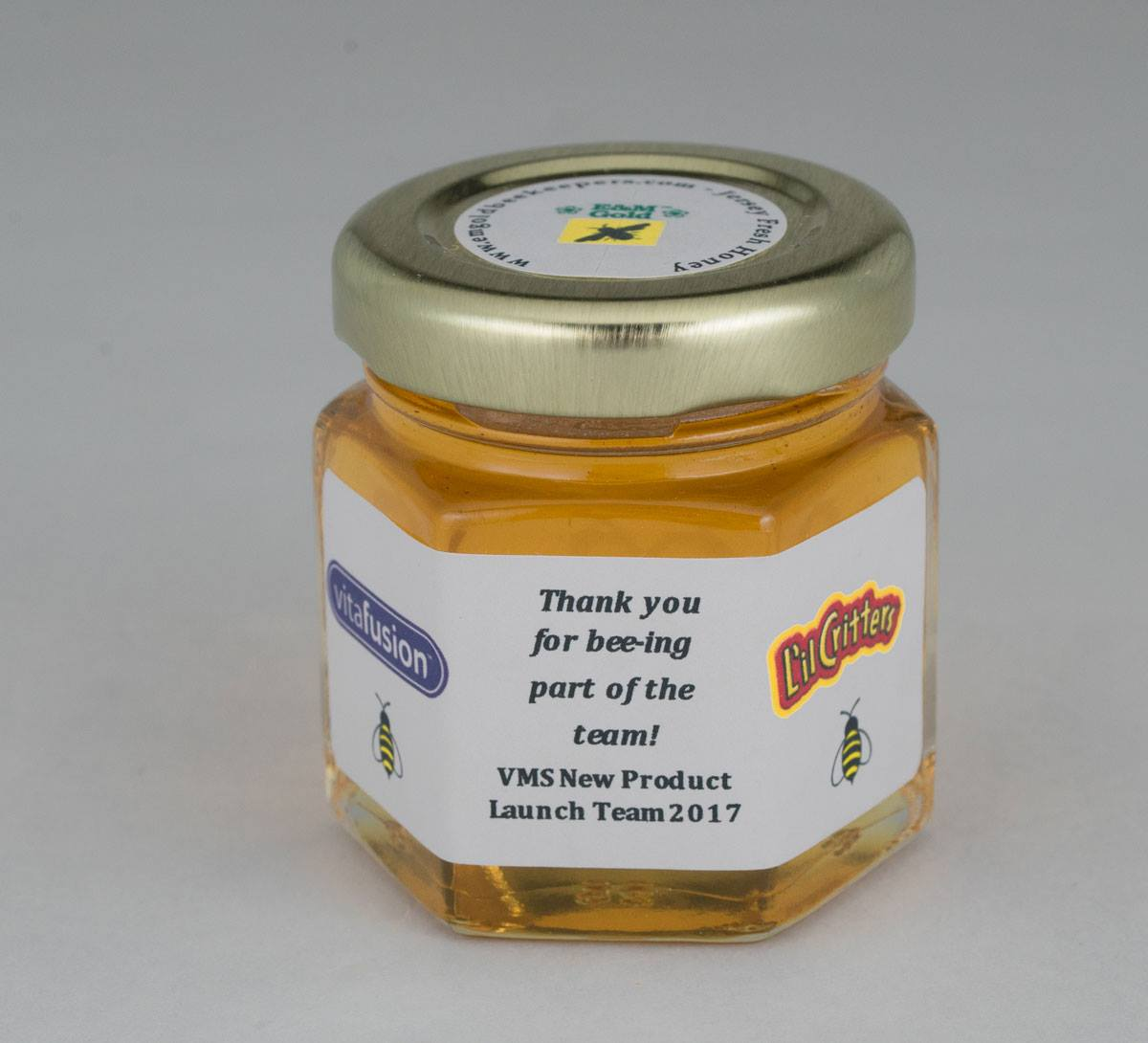 Personalized 2oz. corporate honey favor business gift idea